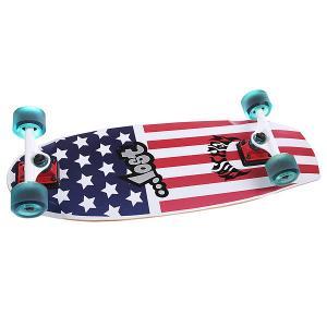 Скейт круизер  Patriot Ii Blue/Red/White 9.5 x 30 (76.2 см) Lost. Цвет: белый,синий,красный