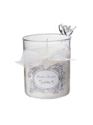 Свеча Пара птиц из выдувного стекла - 100 г 50 часов в коробке Опаловая пудра Mathilde M. Цвет: белый