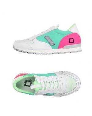 Низкие кеды и кроссовки D.A.T.E. KIDS. Цвет: светло-зеленый