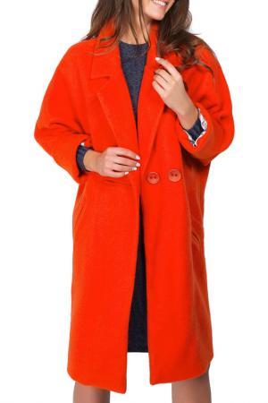 Пальто BEZKO. Цвет: оранжевый