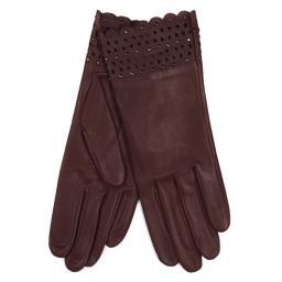 Перчатки  SVETLANA/S бордовый AGNELLE