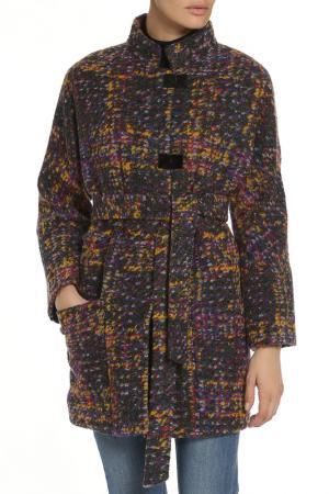 Пальто ELECTRASTYLE. Цвет: фиолетово-желтый
