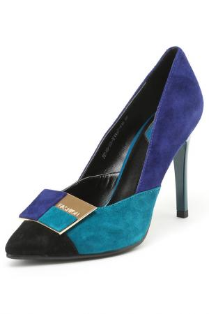 Туфли Carlabei. Цвет: синий