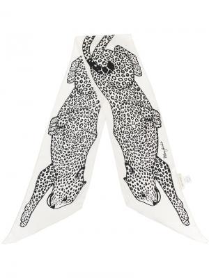 Шарф с изображением леопарда Marc Jacobs. Цвет: белый