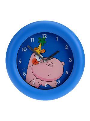 Часы настенные Mitya Veselkov. Цвет: синий, розовый