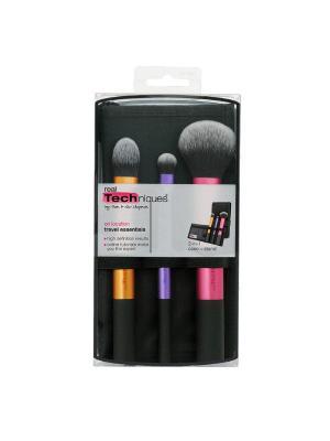 Real Techniques Набор кистей Travel Essentials. Цвет: золотистый, белый, черный, сиреневый, розовый