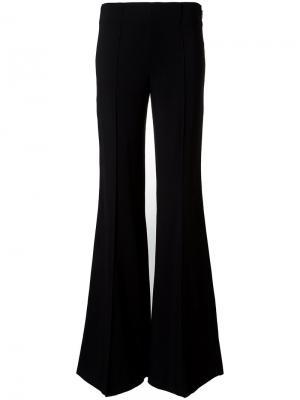 Расклешенные брюки со складками Emilio Pucci. Цвет: чёрный