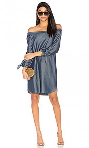 Платье со спущенными плечами sable CHARLI. Цвет: синий