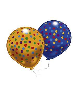8 шариков с рисунком Конфетти Everts. Цвет: синий