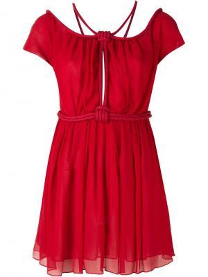 Платье с веревочной отделкой Jay Ahr. Цвет: красный