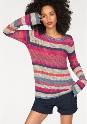 Пуловер Kangaroos. Цвет: ярко-розовый/синий/серый