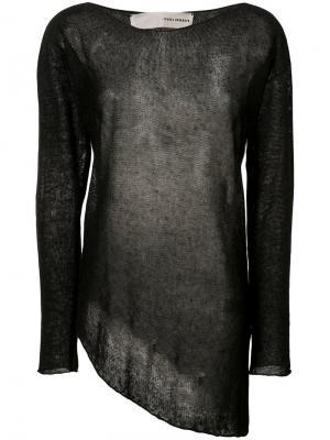 Асимметричный свитер Isabel Benenato. Цвет: чёрный