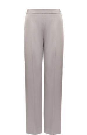Однотонные брюки прямого кроя со стрелками Escada. Цвет: серый