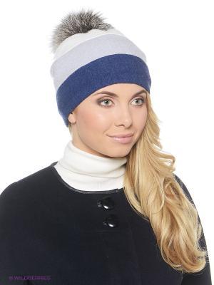 Шапка Ваша Шляпка. Цвет: белый, синий, серый