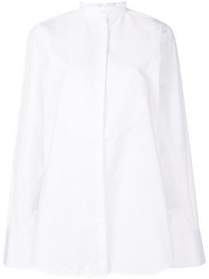 Длинная рубашка свободного кроя Toteme. Цвет: белый