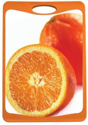 Доска разделочная Frybest. Цвет: оранжевый (оранжевый, белый)