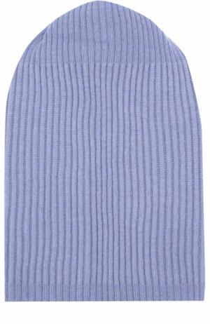 Кашемировая шапка бини Tegin. Цвет: голубой