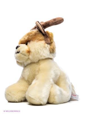 Игрушка мягкая Boo with Reindeer Antlers Gund. Цвет: бежевый
