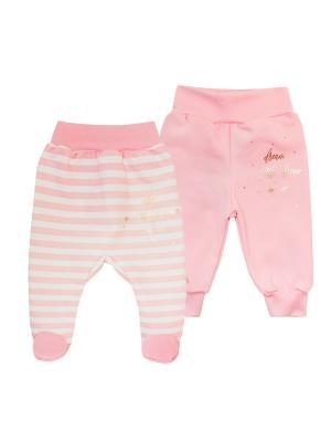 Комплект одежды: ползунки, штанишки Коллекция Little Elephant КОТМАРКОТ. Цвет: розовый