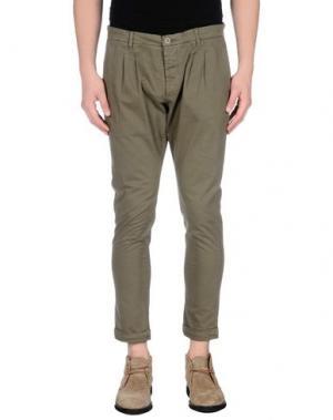 Повседневные брюки - -ONE > ∞. Цвет: зеленый-милитари