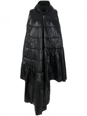 Асимметричное дутое пальто Barbara Bologna. Цвет: чёрный