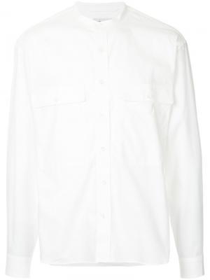 Рубашка с воротником-мандарин Lemaire. Цвет: белый