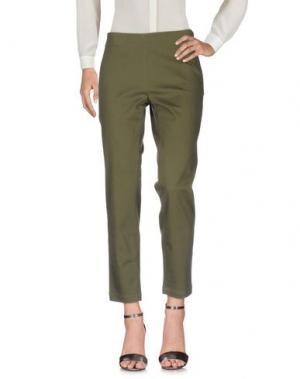 Повседневные брюки STEFANO MORTARI. Цвет: зеленый-милитари