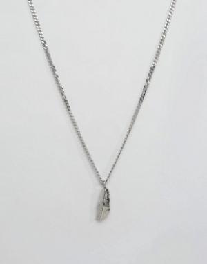 Seven London Серебряное ожерелье с подвеской-камнем. Цвет: серебряный