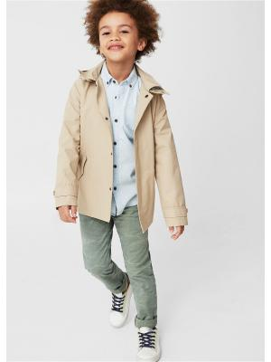 Куртка - TRENCH Mango kids. Цвет: светло-серый