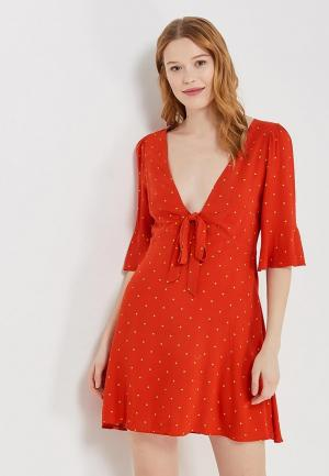 Платье Free People. Цвет: красный