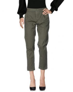 Повседневные брюки TRUE NYC.. Цвет: зеленый-милитари