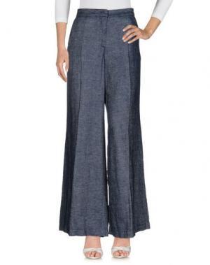 Джинсовые брюки GOTHAINPRIMIS. Цвет: синий