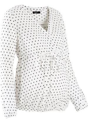 Блузка для беременных (белый/черный в горошек) bonprix. Цвет: белый/черный в горошек
