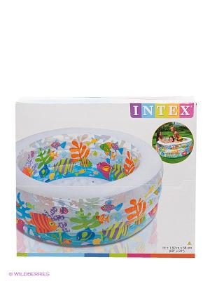 Надувной бассейн Intex. Цвет: белый, прозрачный