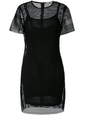 Прозрачное платье Diane Von Furstenberg. Цвет: чёрный