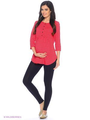 Блузка для беременных и кормящих ФЭСТ. Цвет: коралловый, темно-синий