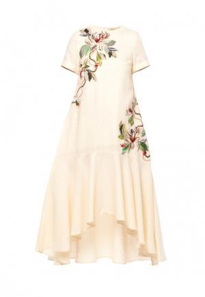 Платье Yukostyle. Цвет: желтый