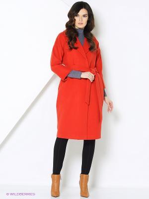 Пальто-oversize RUXARA. Цвет: красный