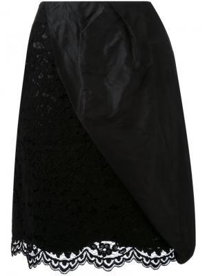 Кружевная юбка DressCamp. Цвет: чёрный