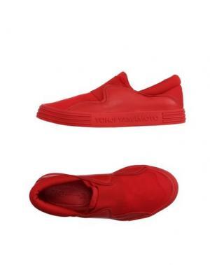 Низкие кеды и кроссовки Y-3. Цвет: красный