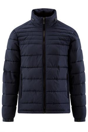 Куртка утепленная oodji. Цвет: темно-синий