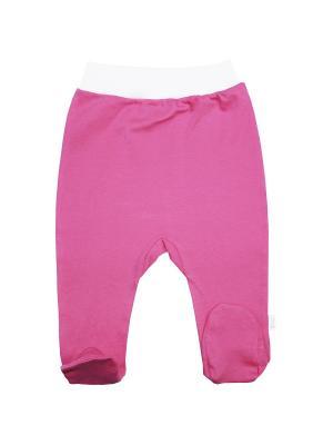 Ползунки Веселый малыш. Цвет: розовый