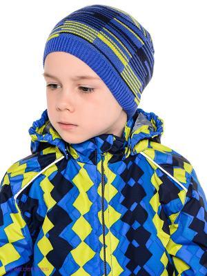 Шапка HUPPA. Цвет: синий, желтый