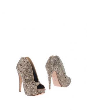 Ботинки GINA. Цвет: голубиный серый