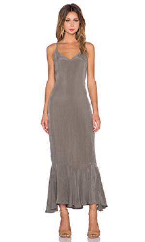 Макси платье ash AGAIN. Цвет: уголь