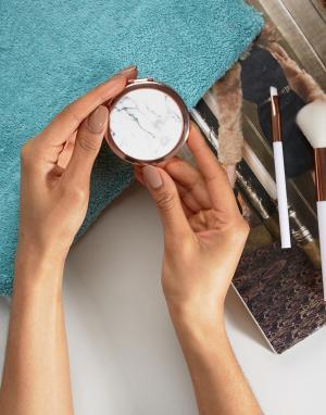 Skinnydip Зеркальце с мраморным принтом. Цвет: бесцветный