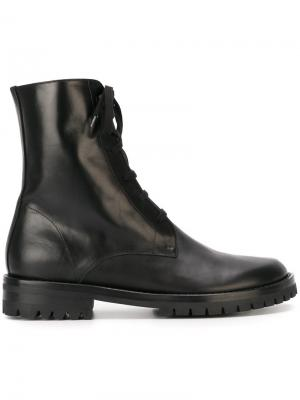 Ботинки на шнуровке Ann Demeulemeester. Цвет: чёрный