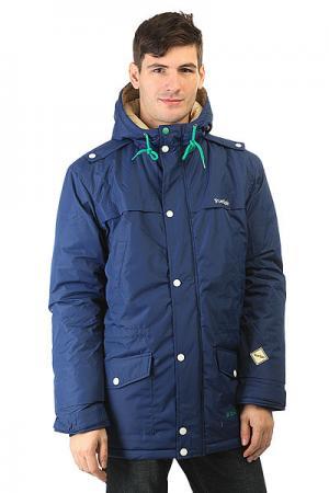 Куртка парка  Fishtail Navy TrueSpin. Цвет: синий