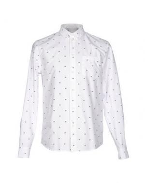 Pубашка WOOD. Цвет: белый