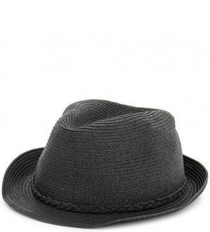 Бумажная шляпа темно-серого цвета Scotch&Soda. Цвет: серый